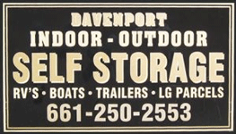 RV boat and trailer storage keycard access